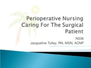 N336 Perioperative student ppt2011