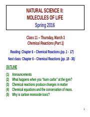 CLASS 11 - Chemical Reactions _Part 1_ _CLASS NOTES S16_
