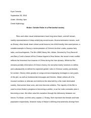 Argumentative Essay On Health Care Reform Mulan  Kyra Cereola Adam Monday Pm Greek Mythology Mulan Gender Roles In  A Patriarchal Society Films And Other Visual Entertainment Have Long Since Sample Essays For High School also Gay Marriage Essay Thesis Mulan  Kyra Cereola Adam Monday Pm Greek Mythology Mulan Gender  Research Essay Topics For High School Students