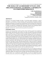110-122-the-role-of-leadership-styles-and-organizational-learning-capability-on-firm-performance-sal