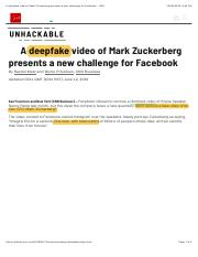 A deepfake video of Mark Zuckerberg presents a new challenge for Facebook - CNN.pdf