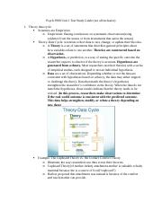 Psych 3980 Unit 1 Test Study Guide