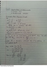 Application of Determinents Notes