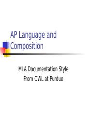 MLA from OWL