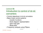 472 Lecture 8b Control introduction