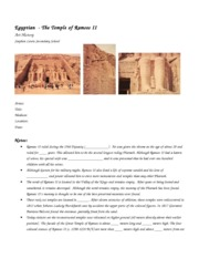 Notes Template- ramesses temple