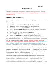ADVERTISING OR PROMOTION
