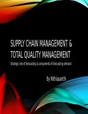 Supply Chain management & total quality management