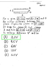 Voltage in an Expanded Capacitor Quiz