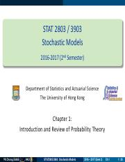 Chapter 1 - Introduction and Review of Probability Theory