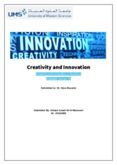 Creativity and Innovation Assignemnt 1.docx