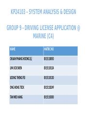 Driving License Application G9.pptx