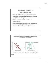 population genetics 3 selection correct handout