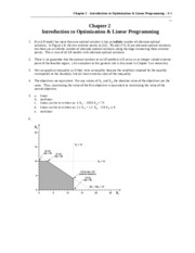 Chapter 2 Introduction to Optimization & Linear Programming_Solutions