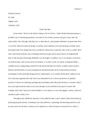 english ah pity v empathy essay draft johnson zachary  5 pages english 1ah spirit crusher essay draft 6