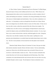 Reaction Paper #2 on Slavery
