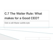 The Waiter Rule
