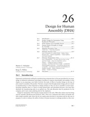 Design for Human Assembly (DHA)