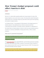 Source #1 - PBS - How Trump's budget proposal could affect America's debt.docx