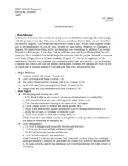Genesis Worksheet