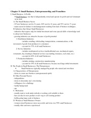 BUS 1000H - Chapter 5 Outline