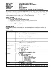 CSC 103 Course Outline (DL)