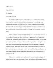 2 page essay about Odyssey