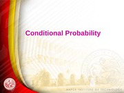 L8 Conditional Probability