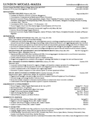 marshall resume and cover letter template