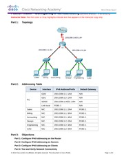 8.2.5.3 Packet Tracer - Configuring IPv6 Addressing Instructions IG