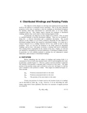 distributed windings  - supplementary 4