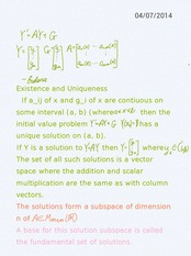 6-1 existence uniqueness theorem for DE systems