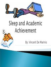 Sleep and Academic performance Research