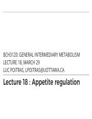 18 - Appetite Regulation