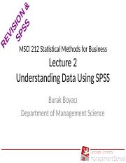 MSCI212 L2 Intro To SPSS