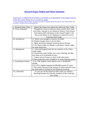 ResearchPaperOutline andThesisStatement 1