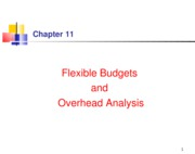 Chapter 9 Flexible budget