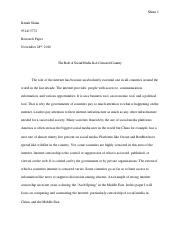 Kenah Shinn Research Paper
