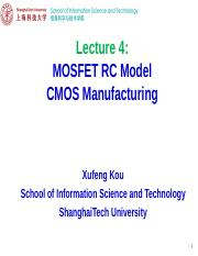 EE113 Lecture 4-MOSFET RC