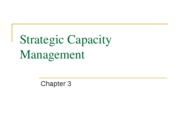 Ch 3 - Strategic Capacity Management 2011 S