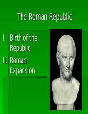 Honors Western Civilization I Roman Republic Powerpoint
