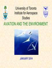 (1) 2014_Lecture1_AER1315_Environmental Impact of Aviation_Zingg