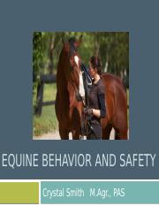 Equine Behavior and Safety Lecture.pptx