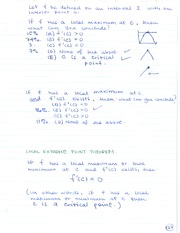 MATH 184 Local Extreme Point Theorem Notes