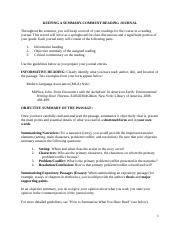 KEEPING A SUMMARY COMMENT READING JOURNAL ENGL 3301 Version (1).docx