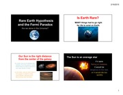 701-Rare Earth Hypothesis and the Fermi Paradox