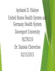 United States Health System and Germany Health System(Ayobami D. Olaleye)