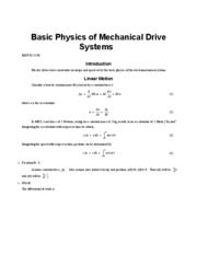 Basic Physics of Mechanical Drive Systems  MDF 03 23 08-2p