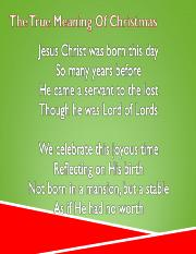 The True Meaning Of Christmas.ppt
