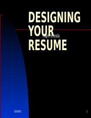 DESIGNING YOUR RESUME SESSION 5.ppt